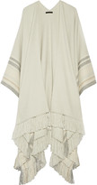 The Row Kleya striped cashmere and silk-blend poncho