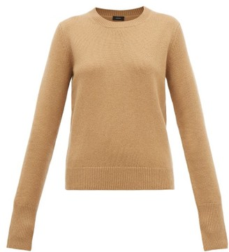 Joseph Ribbed-edge Cashmere Sweater - Womens - Camel