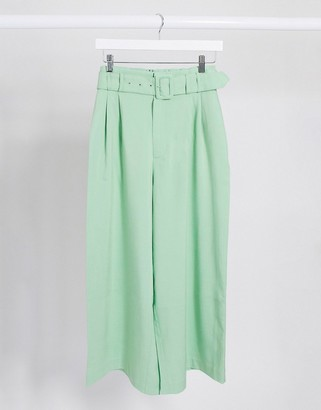 Stradivarius culotte with belt in mint