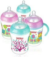 Nuby's Natural TouchTM 270ml Anti-Colic Bottles 4 Pack - Girl