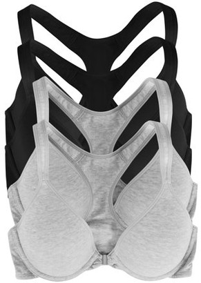 No Boundaries Juniors 4 Pack Front Close Racerback Bra Style NB791PK