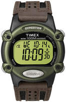 Timex Expedition Mens Brown Leather Strap Digital Watch T480429J