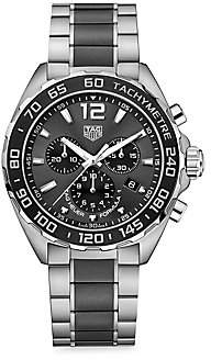 Tag Heuer Women's Formula 1 43MM Stainless Steel & Ceramic Quartz Tachymeter Chronograph Bracelet Watch