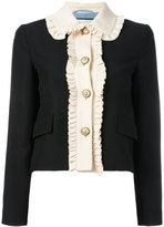 Gucci ruffle trim cropped jacket