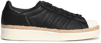 adidas Superstar 80s New Bold Jute-trimmed Leather Sneakers