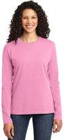 Port & Company Women's Long Sleeve 54 oz 100% Cotton T Shirt L