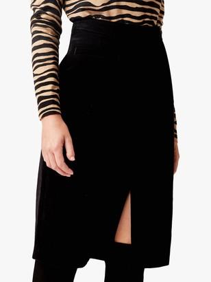 Hobbs Arnelle Cotton Skirt, Black