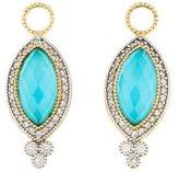 Jude Frances 18K Provence Turquoise & Diamond Earring Enhancers