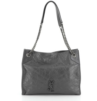 Saint Laurent Niki Shopping Tote Matelasse Chevron Leather Medium