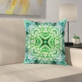 "Tie Dye Bohemian Retro Square Pillow Cover East Urban Home Size: 16"" x 16"""