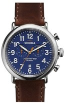 Shinola The Runwell Chrono Leather Strap Watch, 47Mm