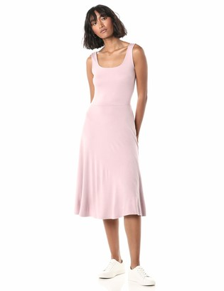 The Drop Women's Nadia Square Neck Sleeveless Flare Dress