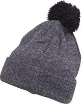 Kangaroo Poo Boys Knitted Marl Hat With Pom-Pom Navy Marl