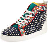 Christian Louboutin Louis Orlato Studded High-Top Sneaker