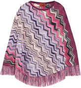 Missoni Crochet-knit Wool Poncho - Pink