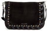 Marc Jacobs Courier Nubuck Leather Shoulder Bag - Black