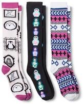 Xhilaration Women's Knee-High Socks Fairisle 3-Pack Pink 4-10 - XhilarationTM
