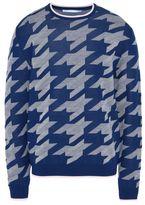 Stella McCartney blue light arrow jacquard jumper