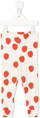 Mini Rodini Strawberry-Print Leggings