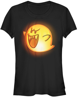 Fifth Sun Women's Tee Shirts BLACK - Super Mario Boo Pumpkin Tee - Women & Juniors