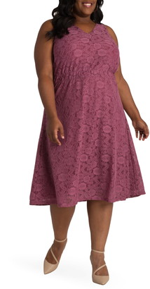 Poetic Justice Shareya Sleeveless Lace A-Line Dress