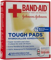 Bandaid First Aid 2.8X2.4 in Tough Pads 4 ct