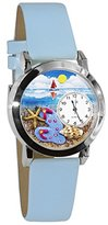 Whimsical Watches Women's S1210013 Flip-flops bay Blue Leather Watch
