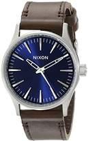 Nixon Men's A3771524 Sentry 38 Leather Watch
