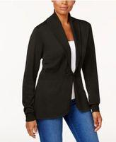 Karen Scott Long-Sleeve Clasp Cardigan, Created for Macy's