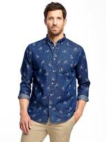 Old Navy Regular-Fit Classic Chambray Shirt For Men