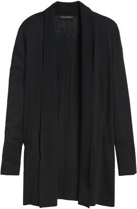 Banana Republic Petite Silk Cotton Long Cardigan Sweater