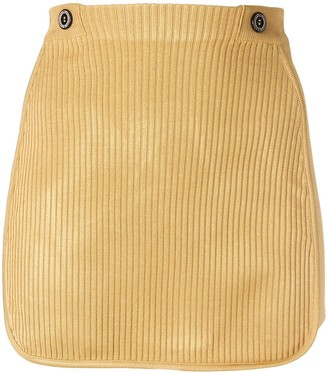 GCDS ribbed mini skirt