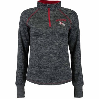 Colosseum Women's Navy Arizona Wildcats Bikram 1/4 Zip Long Sleeve Jacket