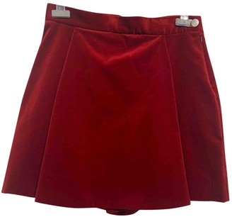 Vivienne Westwood Red Cotton Shorts for Women