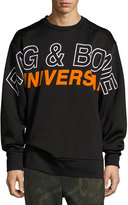 Rag & Bone Jake Oversized Logo Sweatshirt, Black