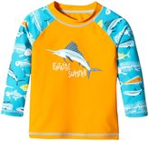 Hatley Fish & Bones Rash Guard (Toddler/Kid) - Orange - 4T