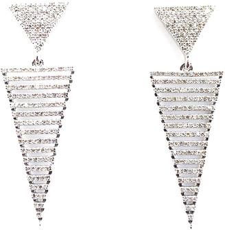 Arthur Marder Fine Jewelry Silver 1.75 Ct. Tw. Diamond Earrings