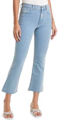 NA-KD Na Kd Raw Hem Kick Flare Jeans