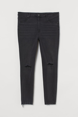 H&M H&M+ Curvy High Ankle Jeggings - Black