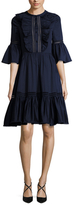 Temperley London Morganne Cotton Fit And Flare Dress