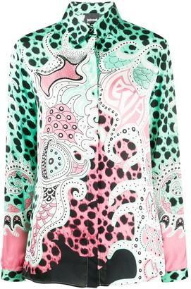Just Cavalli Colour-Block Long Sleeve Blouse