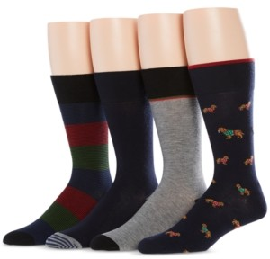 Perry Ellis Men's 4-Pk. Golden Retriever Socks