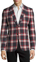 Valentino Plaid Wool Blazer Jacket