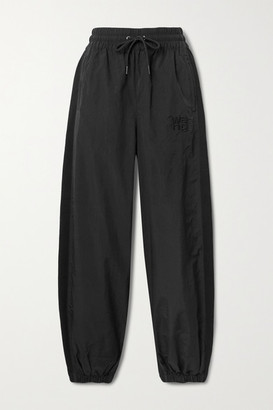 Alexander Wang Embroidered Shell And Cotton-jersey Track Pants - Black