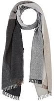 Barneys New York MEN'S COLORBLOCKED GAUZY WOOL-BLEND SCARF