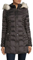 Betsey Johnson Faux Fur-Trimmed Puffer Coat