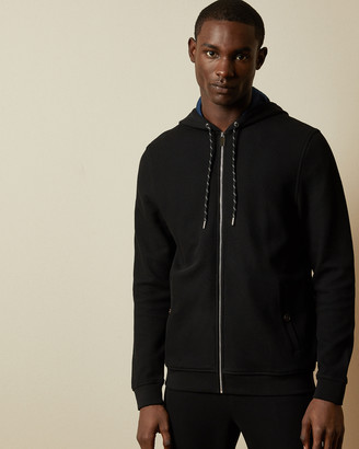 Ted Baker BRUNCH Zip through cotton hoodie