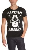 Logoshirt Slim Fit Marvel-Captain A P Logo T-Shirt