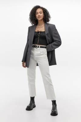 BDG Western White Straight-Leg Jeans - White 27 at Urban Outfitters