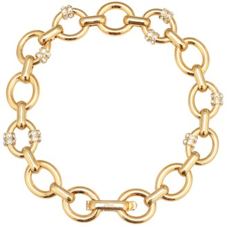 Chloé Gold-plated choker with white crystals
